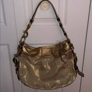 Medium sized Gold Coach Purse